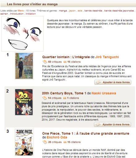 Manga liste