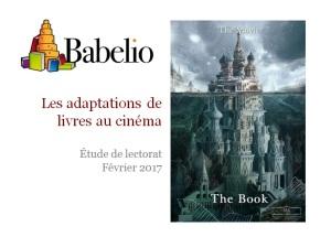 Adaptations de livres au cinéma