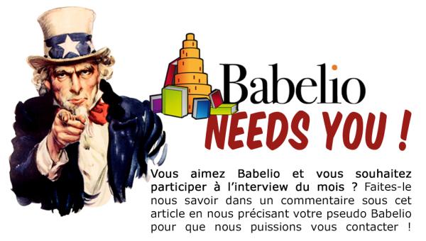 Babelio needs you -itw du mois